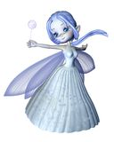 Cute Toon Snowflake Fairy - 2 Stock Images