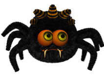 Cute toon spider Stock Photos