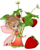 Cute Toon Strawberry Fairy Stock Photography