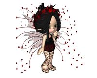 Cute Toon Valentine Fairy - 1 Stock Photography