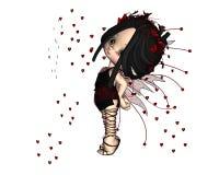 Cute Toon Valentine Fairy - 2 Royalty Free Stock Image