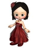 Cute Toon Valentine Girl Stock Photography