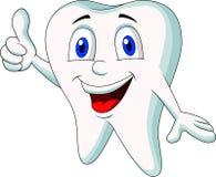 Cute tooth cartoon thumb up. Illustration of cute tooth cartoon thumb up royalty free illustration