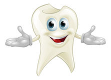 Cute tooth dental mascot Royalty Free Stock Photos