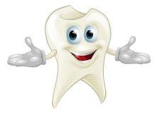 Cute tooth dental mascot royalty free illustration