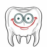 Cute tooth illustration cartoon drawing coloring. Cute tooth drawing and cartoon coloring drawing Royalty Free Stock Images