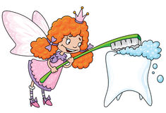 Cute tooth fairy. Illustration of a cute tooth fairy stock illustration