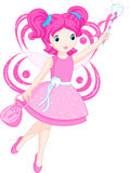 Cute Tooth Fairy. Tooth fairy flies to collect teeth vector illustration