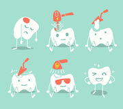 Cute tooth treatment Stock Photography