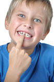 Cute toothless boy Royalty Free Stock Images
