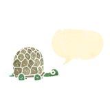 Cute tortoise retro cartoon Stock Image