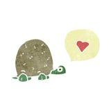Cute tortoise retro cartoon Royalty Free Stock Photos