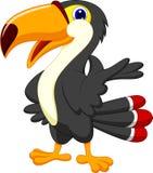 Cute toucan cartoon presenting Stock Photo