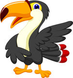 Cute toucan cartoon presenting Royalty Free Stock Photo