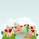Cute town Stock Photography