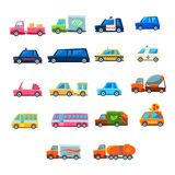 Cute Toy Car Set Of Icons Royalty Free Stock Photos