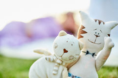 Cute toy kittens Stock Photography