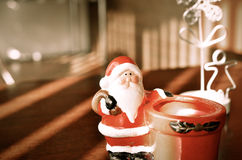 Cute toy Santa Claus. Stock Photo