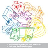 Cute toy transport mishmash set in vector. Royalty Free Stock Photos