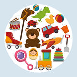 Cute toys design Royalty Free Stock Images