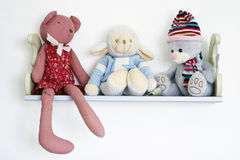 Cute Toys On Shelf Royalty Free Stock Photos