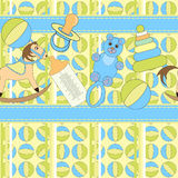 Cute toys seamless pattern Royalty Free Stock Images