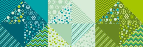 Cute traditional green patchwork pattern. Stock Images