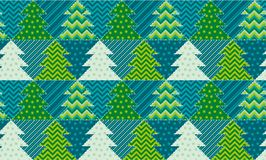 Cute traditional patchwork concept seamless pattern. Stock Images