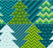 Cute traditional patchwork concept seamless pattern.   Stock Photos