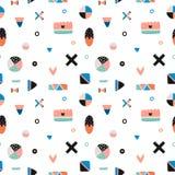 Cute Trandy Seamless Pattern Royalty Free Stock Photography