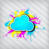 Cute transparency grunge cloud frame Royalty Free Stock Photography