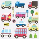 Cute Transportation Collection Set royalty free illustration