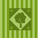 Cute tree background Royalty Free Stock Photo