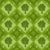 Cute tree pattern Stock Photography