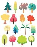 Cute tree set Stock Image