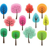 Cute Tree Royalty Free Stock Photos
