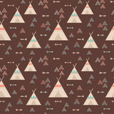 Cute trible geometric seamless pattern in cartoon style Stock Image
