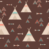 Cute trible geometric seamless pattern in cartoon style Stock Photography