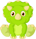 Cute triceratops cartoon Stock Photo