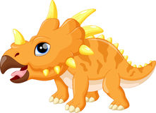 Cute triceratops cartoon Royalty Free Stock Photos