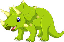 Cute triceratops cartoon Stock Photography