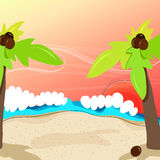 Cute tropical beach Royalty Free Stock Images