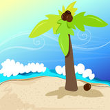 Cute tropical beach Royalty Free Stock Photos