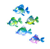 Cute tropical fish  hand drawn illustration Royalty Free Stock Photography