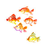 Cute tropical fish watercolor Royalty Free Stock Photos