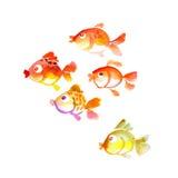 Cute tropical fish watercolor Royalty Free Stock Photos