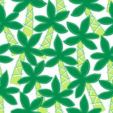 Cute tropical palm trees embroidery seamless pattern Stock Images