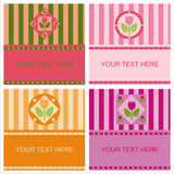 Cute tulips frames Stock Photos