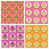 Cute tulips patterns Stock Image
