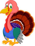 Cute turkey cartoon Royalty Free Stock Photos
